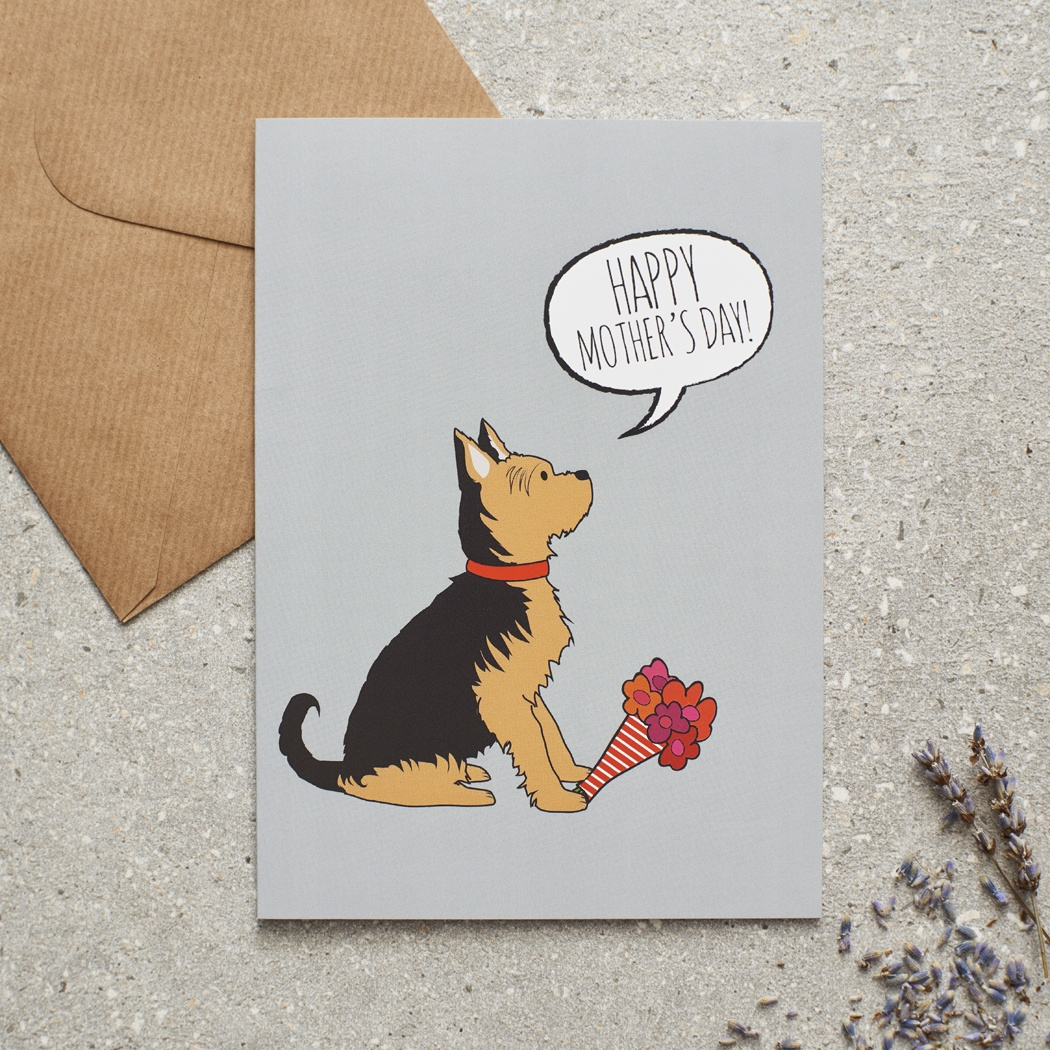Yorkshire Terrier Mother's Day Card , Mischievous Mutts > Greeting Cards , Yorkshire Terrier