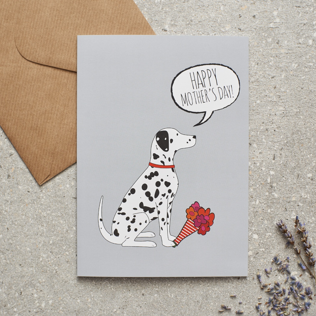 Dalmatian Mother's Day Card , Mischievous Mutts > Greeting Cards , Dalmatian