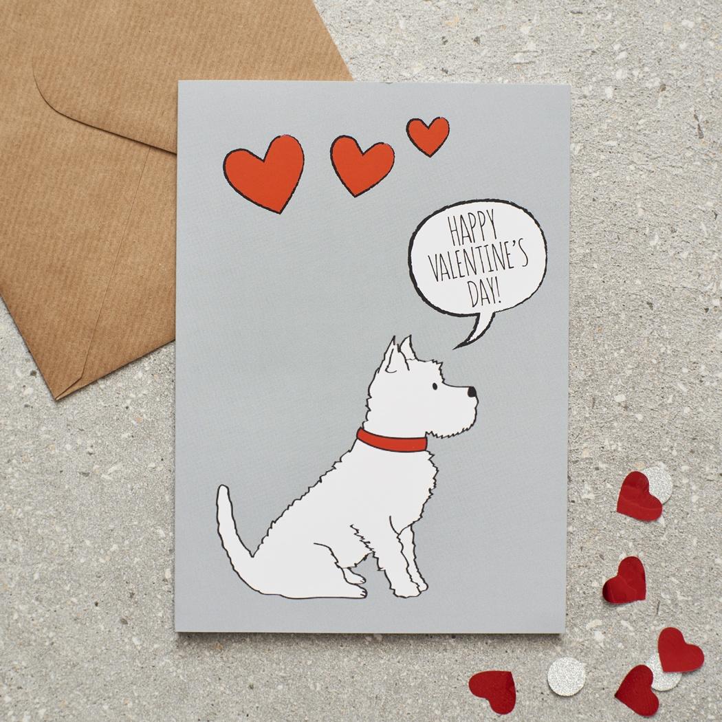 Westie Valentine's Day Card , Mischievous Mutts > Greeting Cards , Westie
