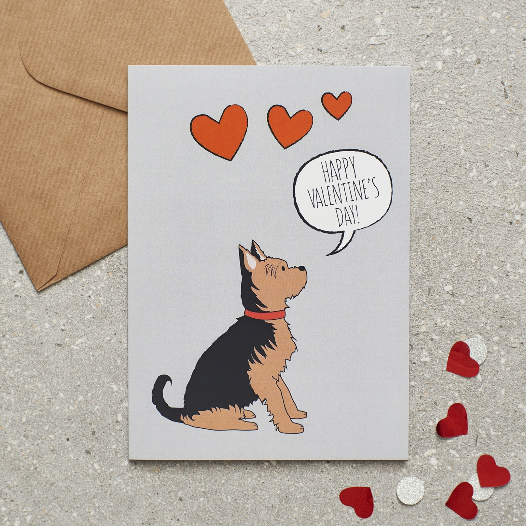Yorkshire Terrier Valentine's Day Card , Mischievous Mutts > Greeting Cards , Yorkshire Terrier