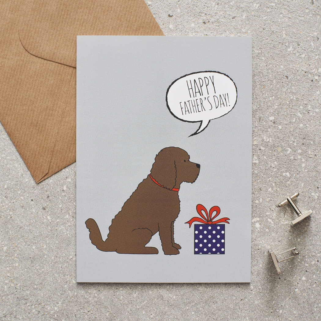 Cockapoo Father's Day Card , Mischievous Mutts > Greeting Cards , Cockapoo