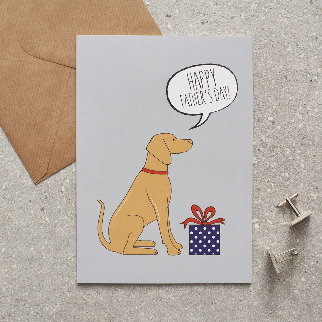 Vizsla Father's Day Card , Mischievous Mutts > Greeting Cards , Vizsla