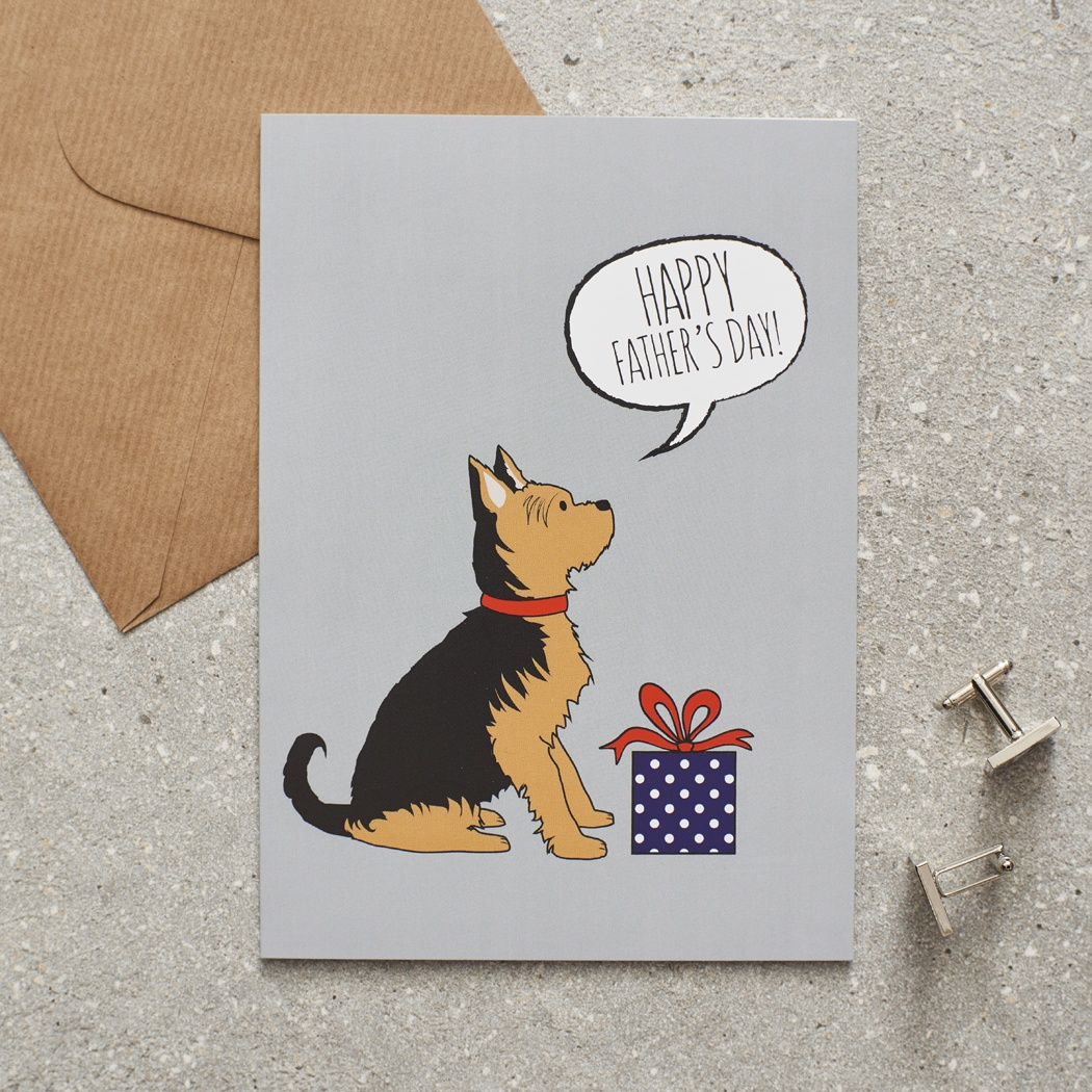 Yorkshire Terrier Father's Day Card , Mischievous Mutts > Greeting Cards , Yorkshire Terrier
