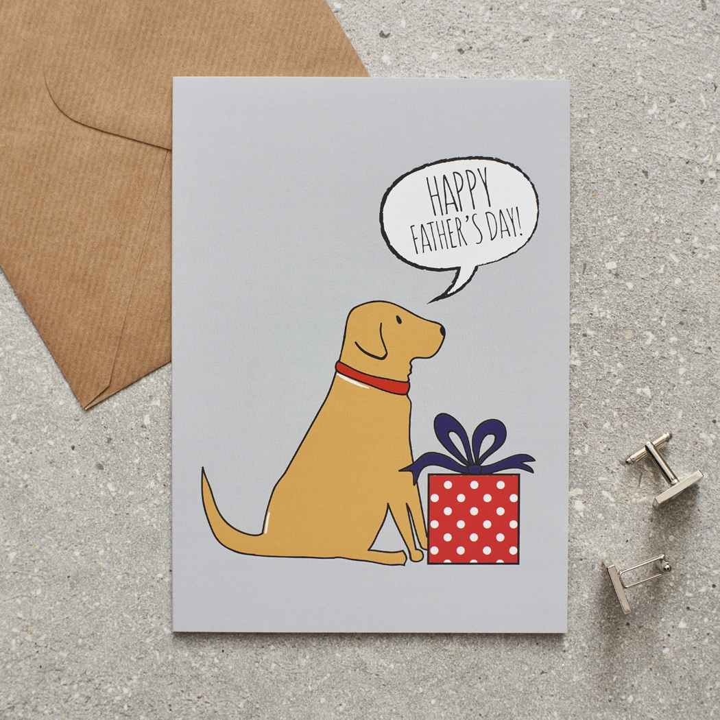 Fox Red Labrador Father's Day Card , Mischievous Mutts > Greeting Cards , Fox Red Labrador