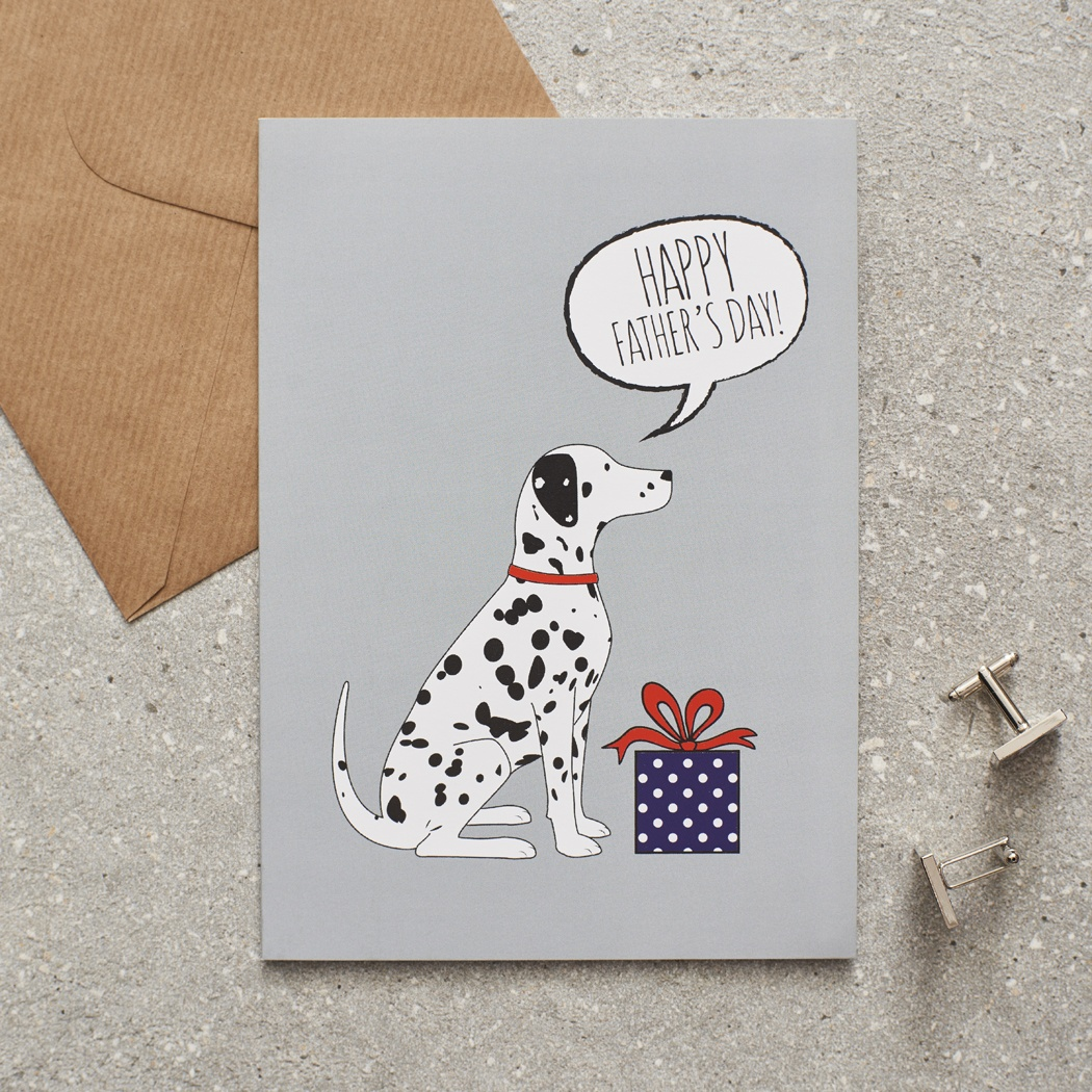 Dalmatian Father's Day Card , Mischievous Mutts > Greeting Cards , Dalmatian