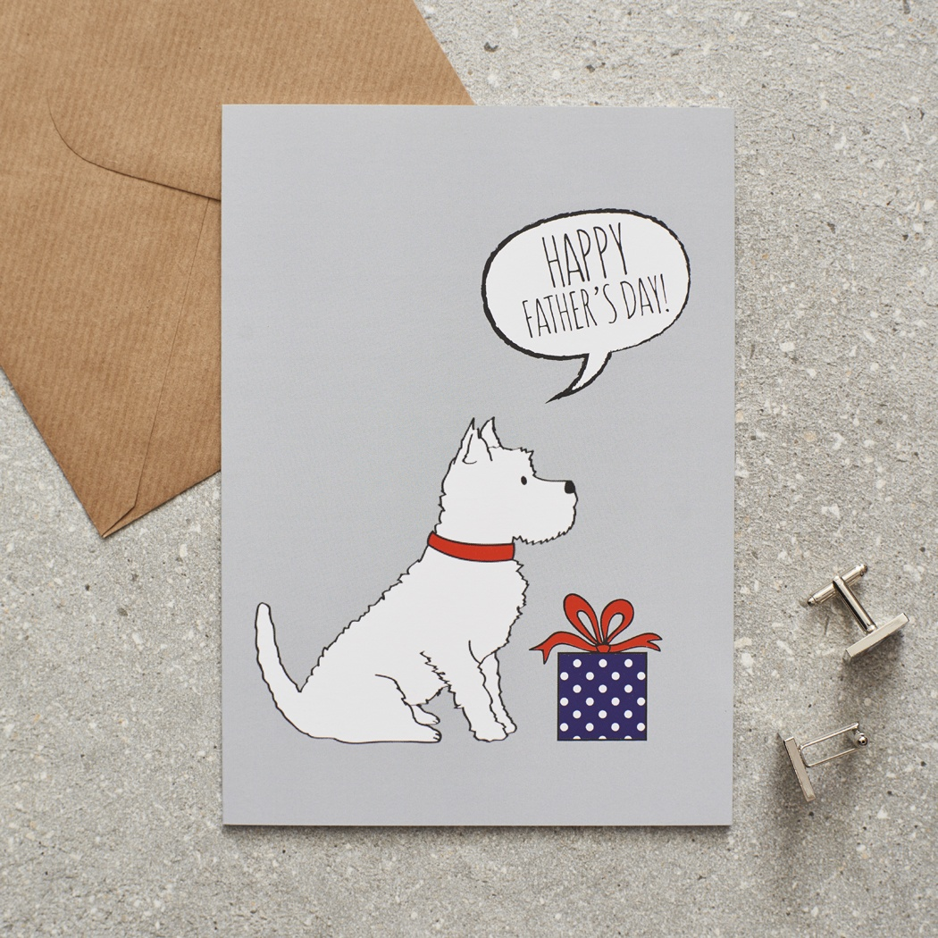 Westie Father's Day Card , Mischievous Mutts > Greeting Cards , Westie