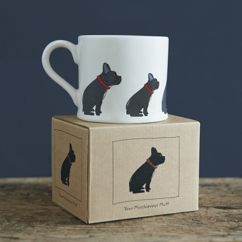 French Bulldog mug and mug gift box