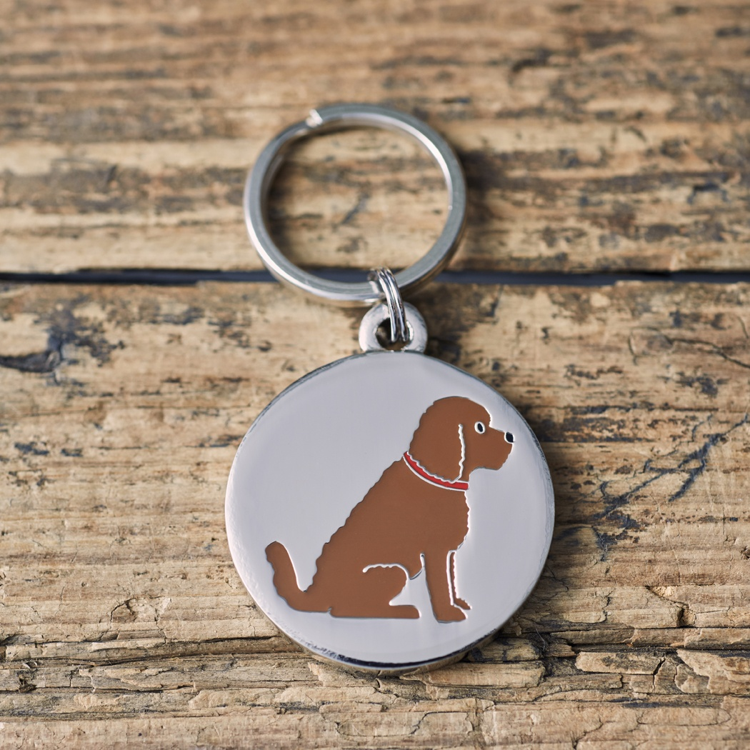 COCKAPOO / LABRADOODLE (CHOCOLATE) DOG ID NAME TAG , Mischievous Mutts > Dog Tags , Cockapoo