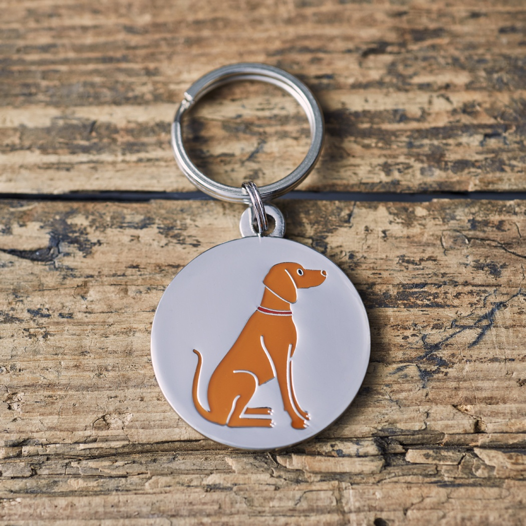 Hungarian Vizsla Dog ID Name Tag , Mischievous Mutts > Dog Tags , Vizsla
