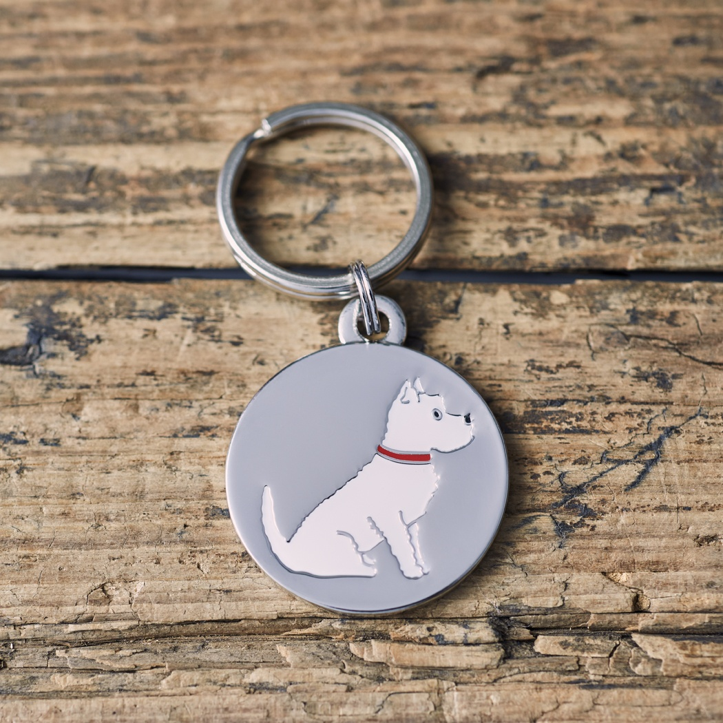 Westie Dog ID Name Tag , Mischievous Mutts > Dog Tags , Westie