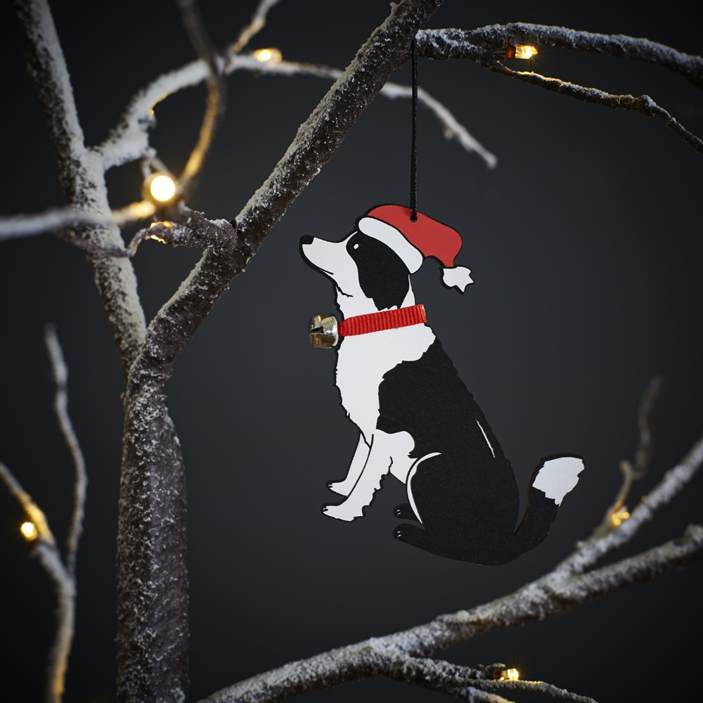 Border Collie Christmas Tree Decoration / Ornament