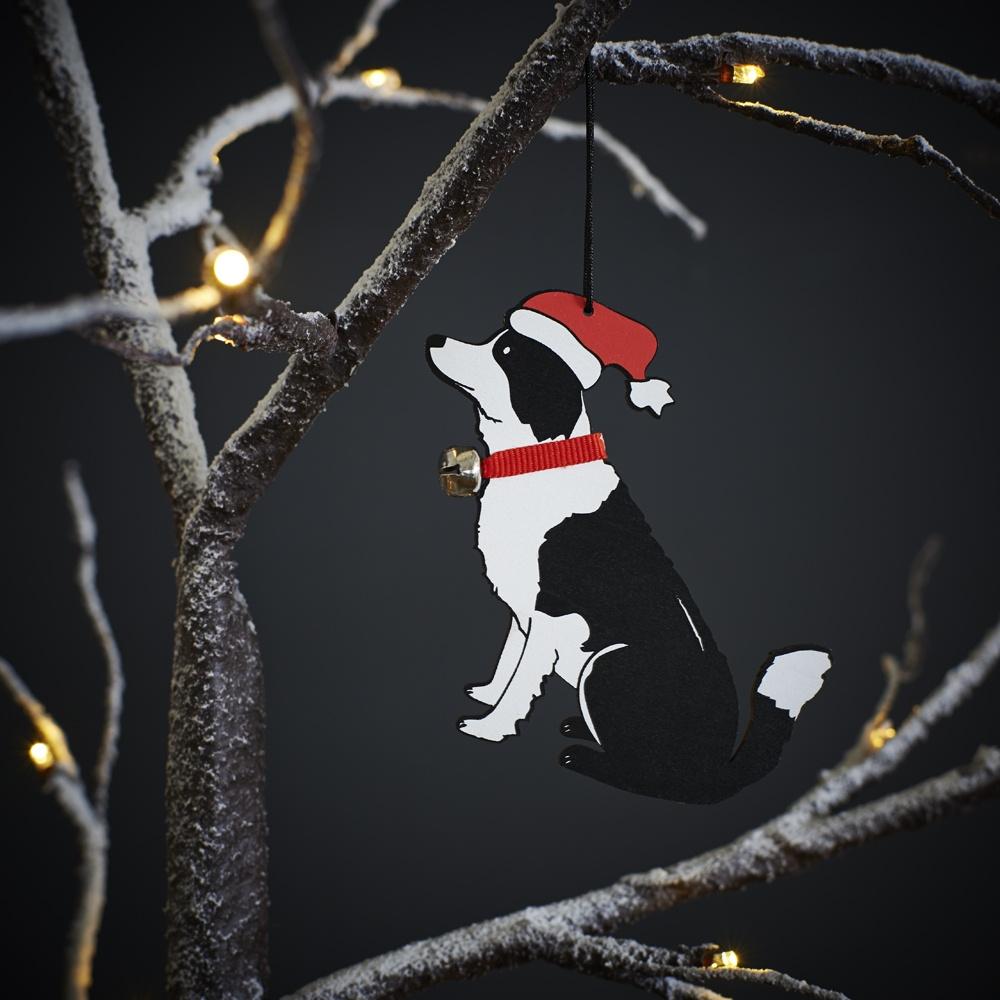 Border Collie Dog Christmas Tree Decoration , Mischievous Mutts > Christmas Decorations , Border Collie