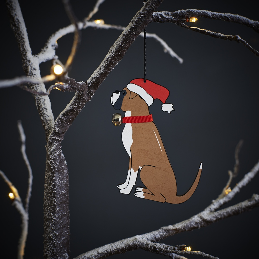 Boxer Dog Christmas Tree Decoration , Mischievous Mutts > Christmas Decorations , Boxer