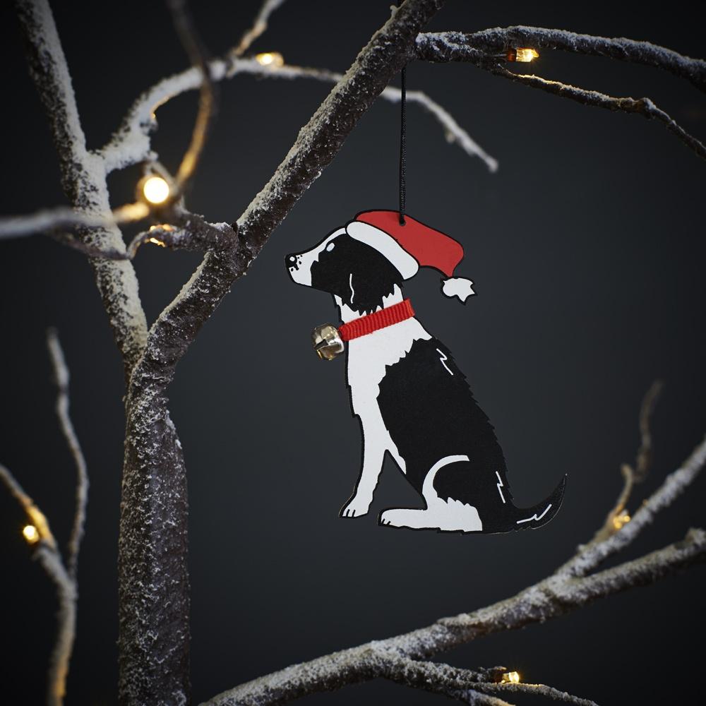 Springer Spaniel (Black & White) Christmas Tree Decoration , Mischievous Mutts > Christmas Decorations , Springer Spaniel