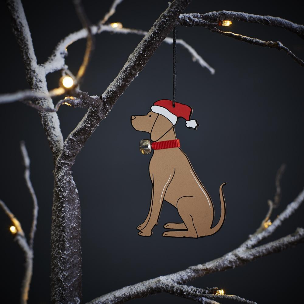 Vizsla Dog Christmas Tree Decoration , Mischievous Mutts > Christmas Decorations , Vizsla
