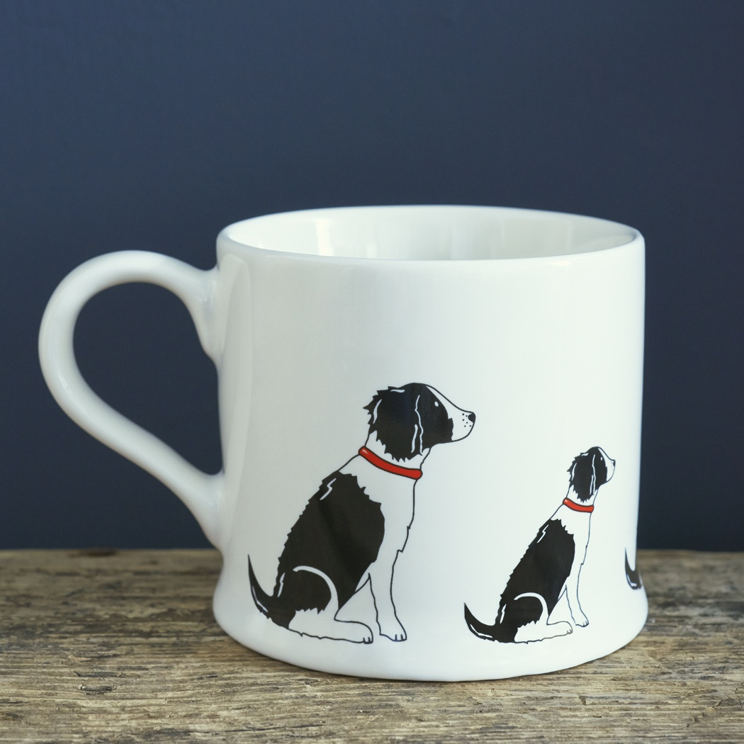 Springer Spaniel (Black & White) Mug , Mischievous Mutts > Mugs , Springer Spaniel