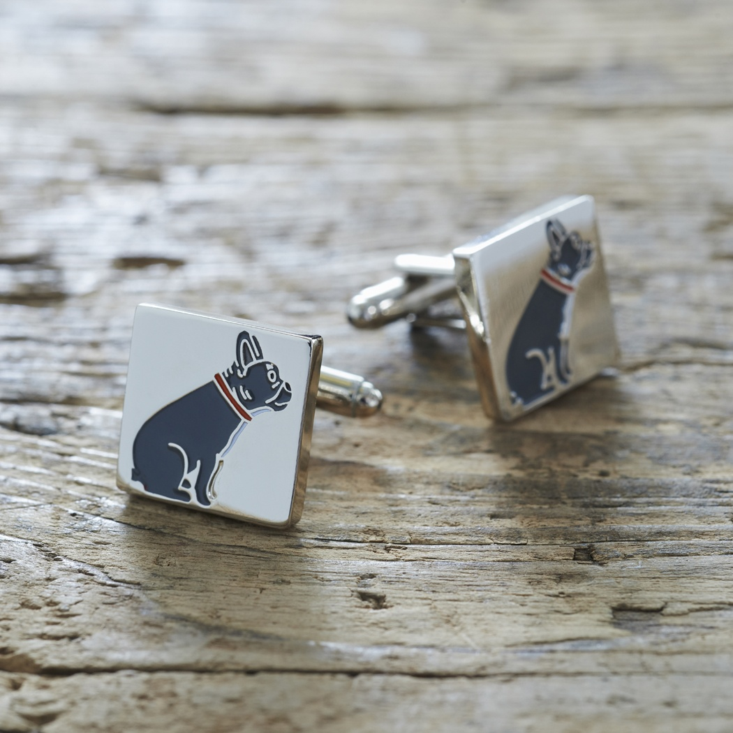 French Bulldog Cufflinks , Mischievous Mutts > Cufflinks , French Bulldog