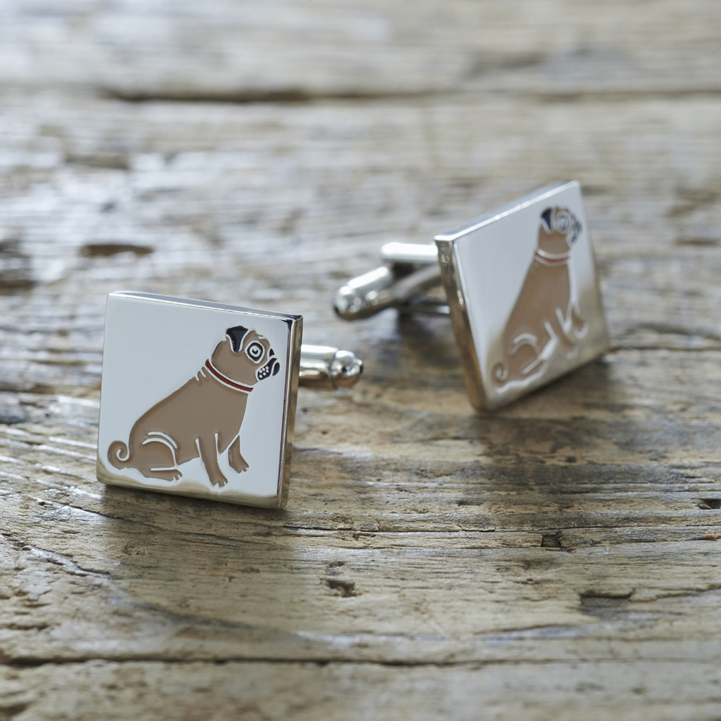 Pug Cufflinks , Mischievous Mutts > Cufflinks , Pug
