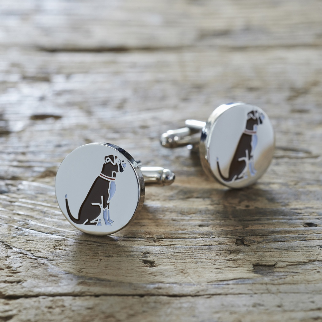 Boxer Cufflinks , Mischievous Mutts > Cufflinks , Boxer