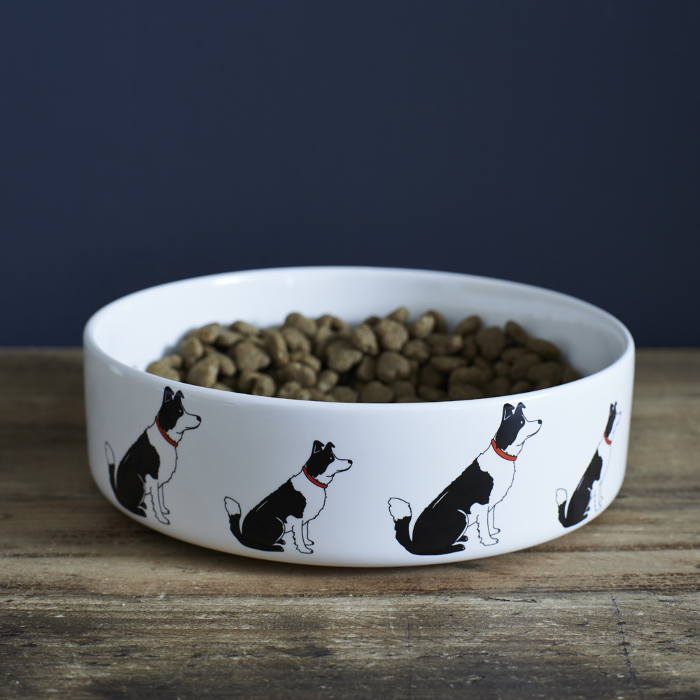 Border Collie Dog Bowl , Mischievous Mutts > Dog bowls , Border Collie