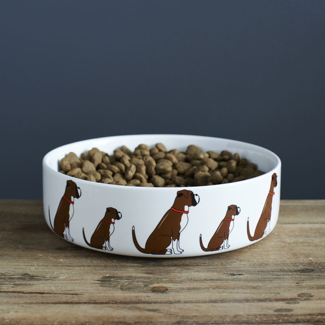 Boxer Dog Bowl , Mischievous Mutts > Dog bowls , Boxer
