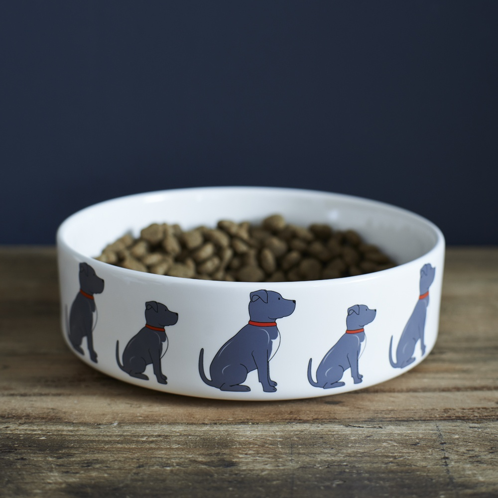 Staffie Dog Bowl , Mischievous Mutts > Dog bowls , Staffie