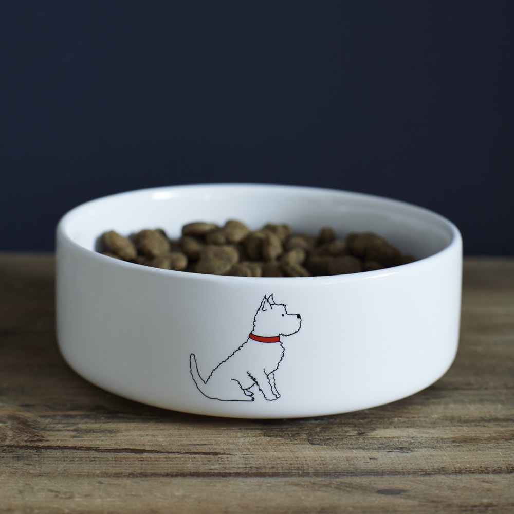 Westie Dog Bowl , Mischievous Mutts > Dog bowls , Westie