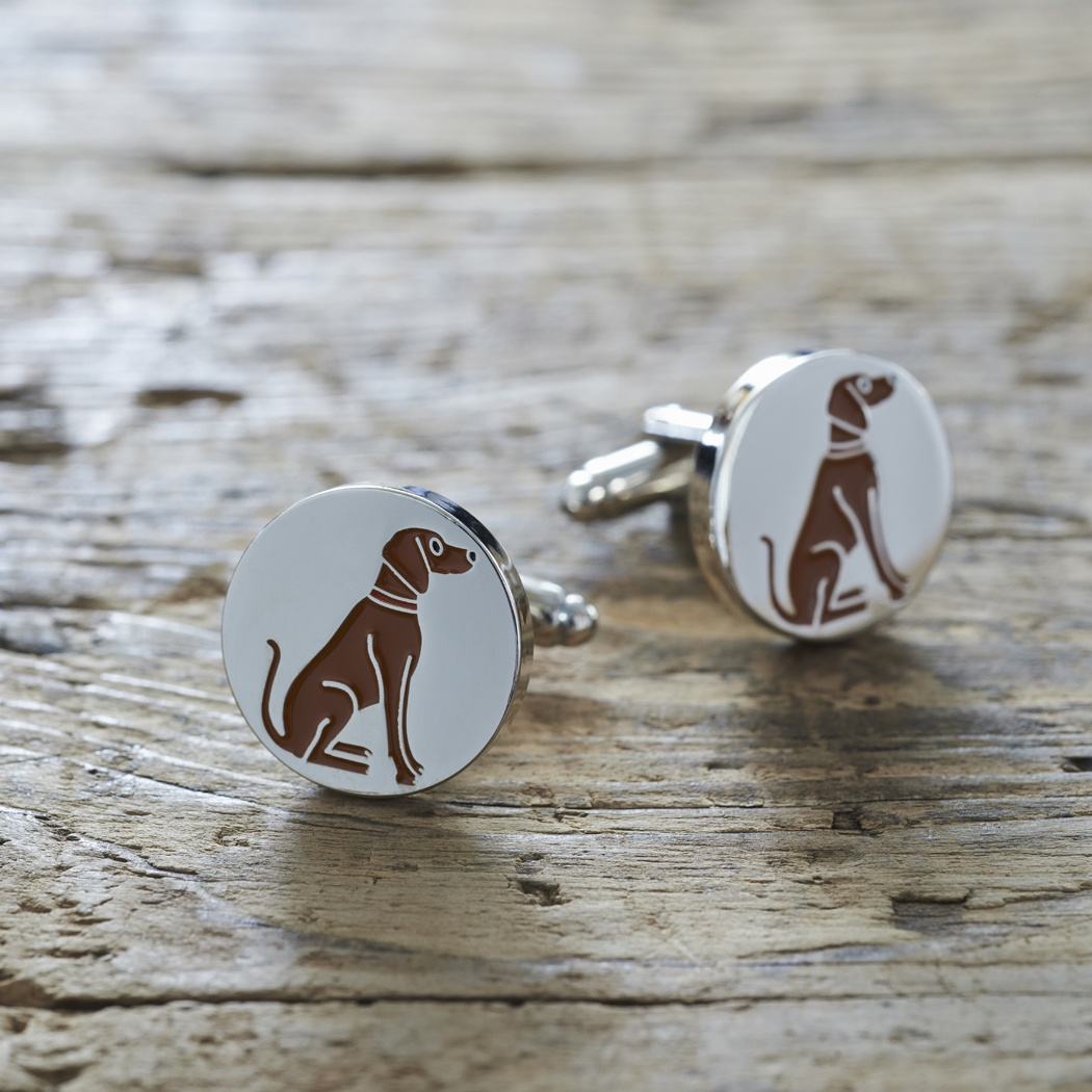 Vizsla cufflinks , Mischievous Mutts > Cufflinks , Vizsla