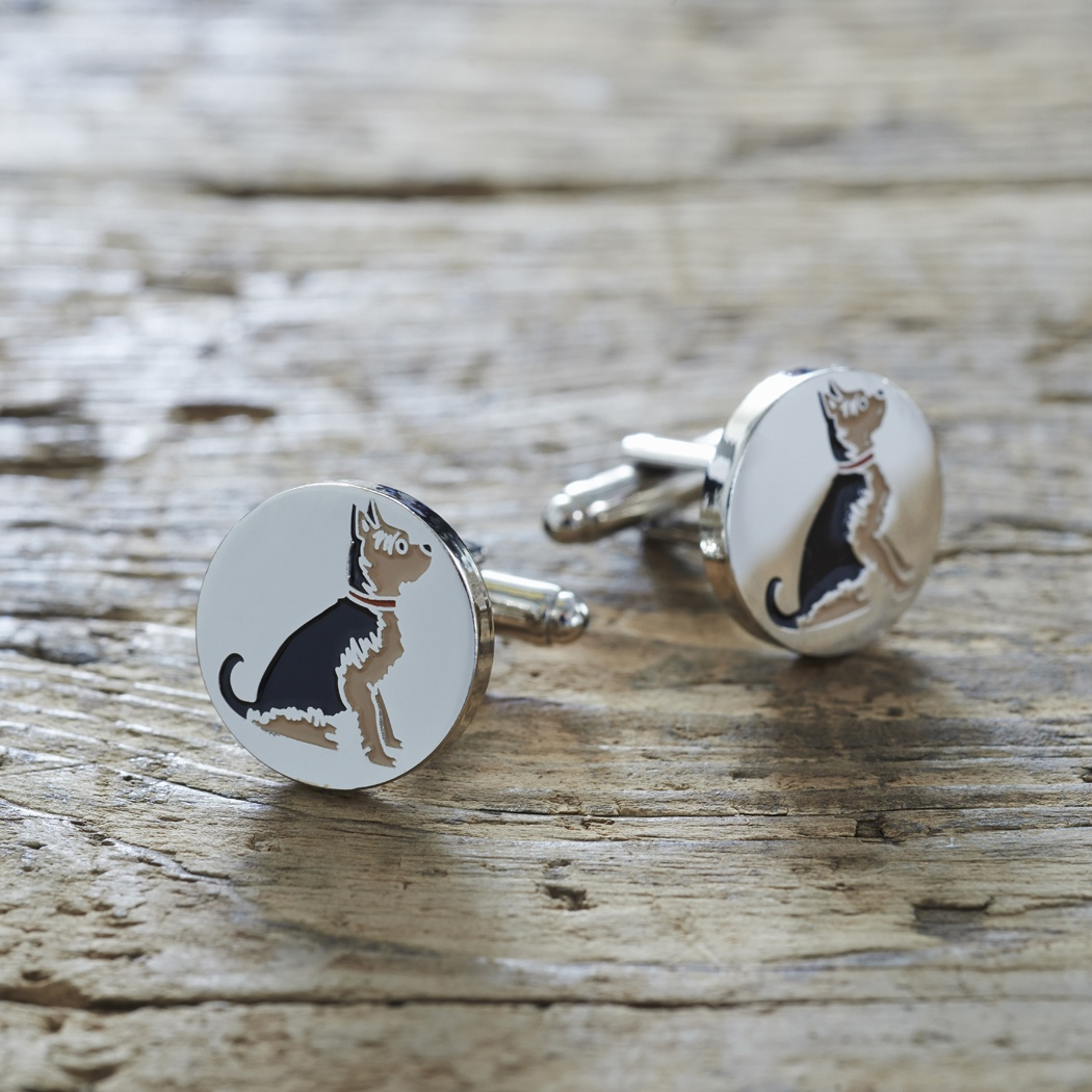 Yorkshire Terrier Cufflinks , Mischievous Mutts > Cufflinks , Yorkshire Terrier