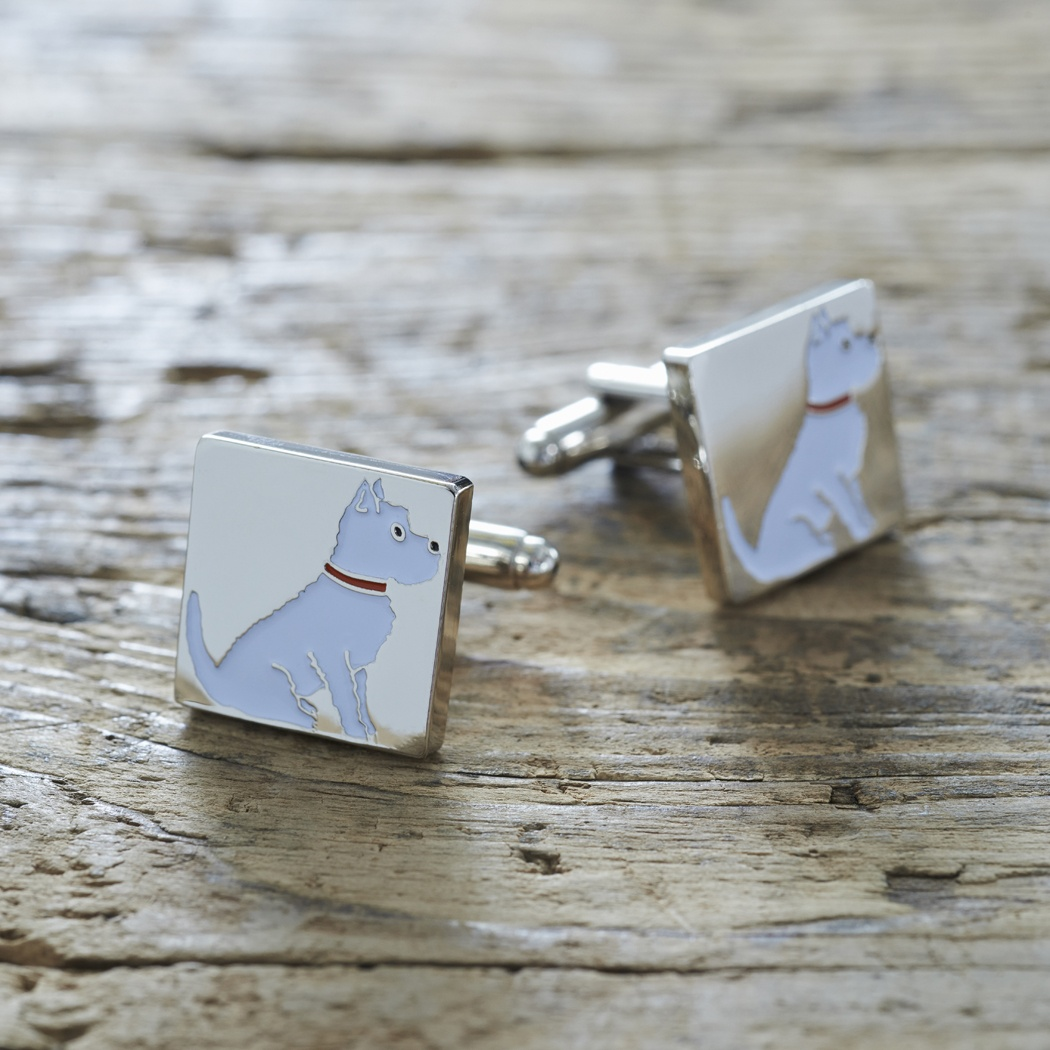 Westie Cufflinks , Mischievous Mutts > Cufflinks , Westie