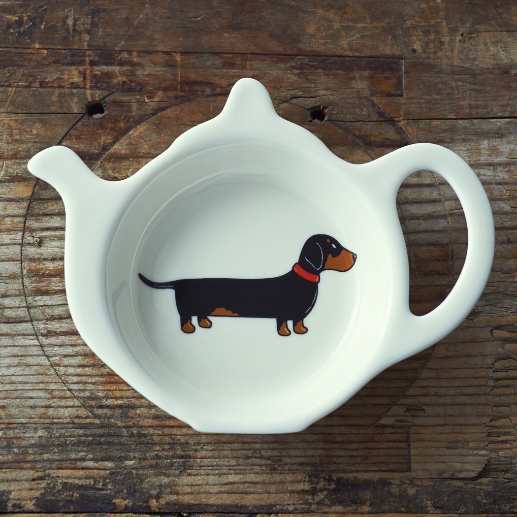 Dachshund Teabag Dish , Mischievous Mutts > Teabag Dishes , Dachshund