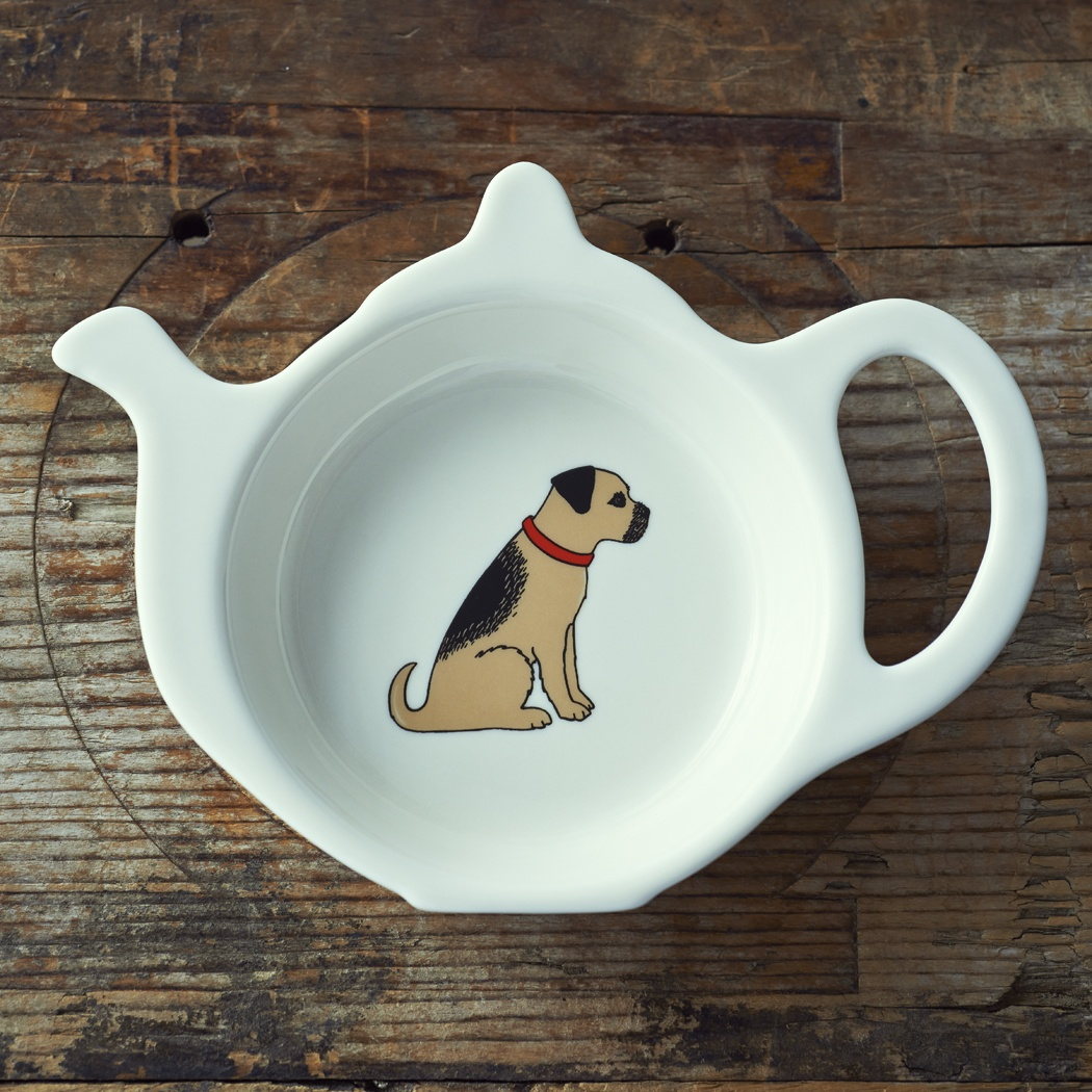 Border Terrier Teabag Dish , Mischievous Mutts > Teabag Dishes , Border Terrier