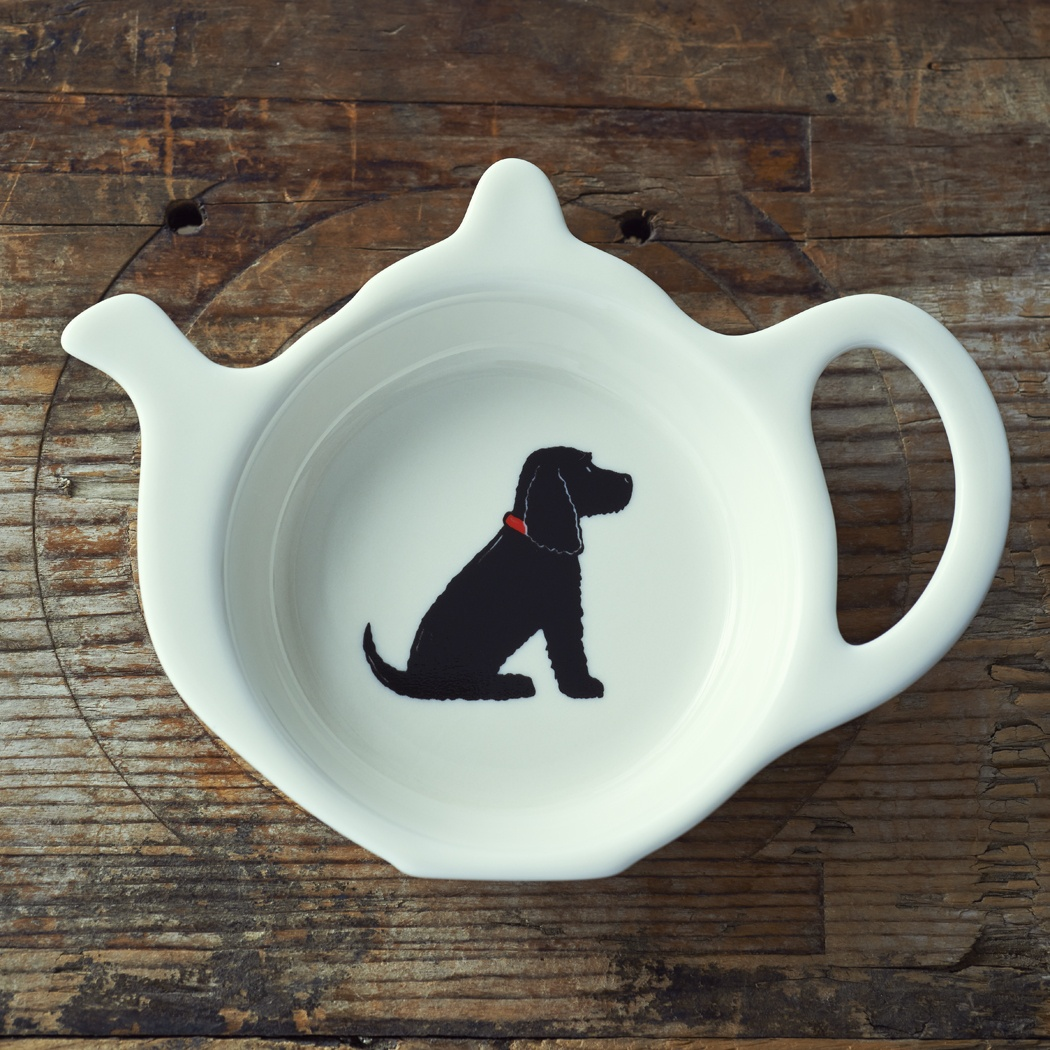 Black Cocker Spaniel Teabag Dish , Mischievous Mutts > Teabag Dishes , Cocker Spaniel