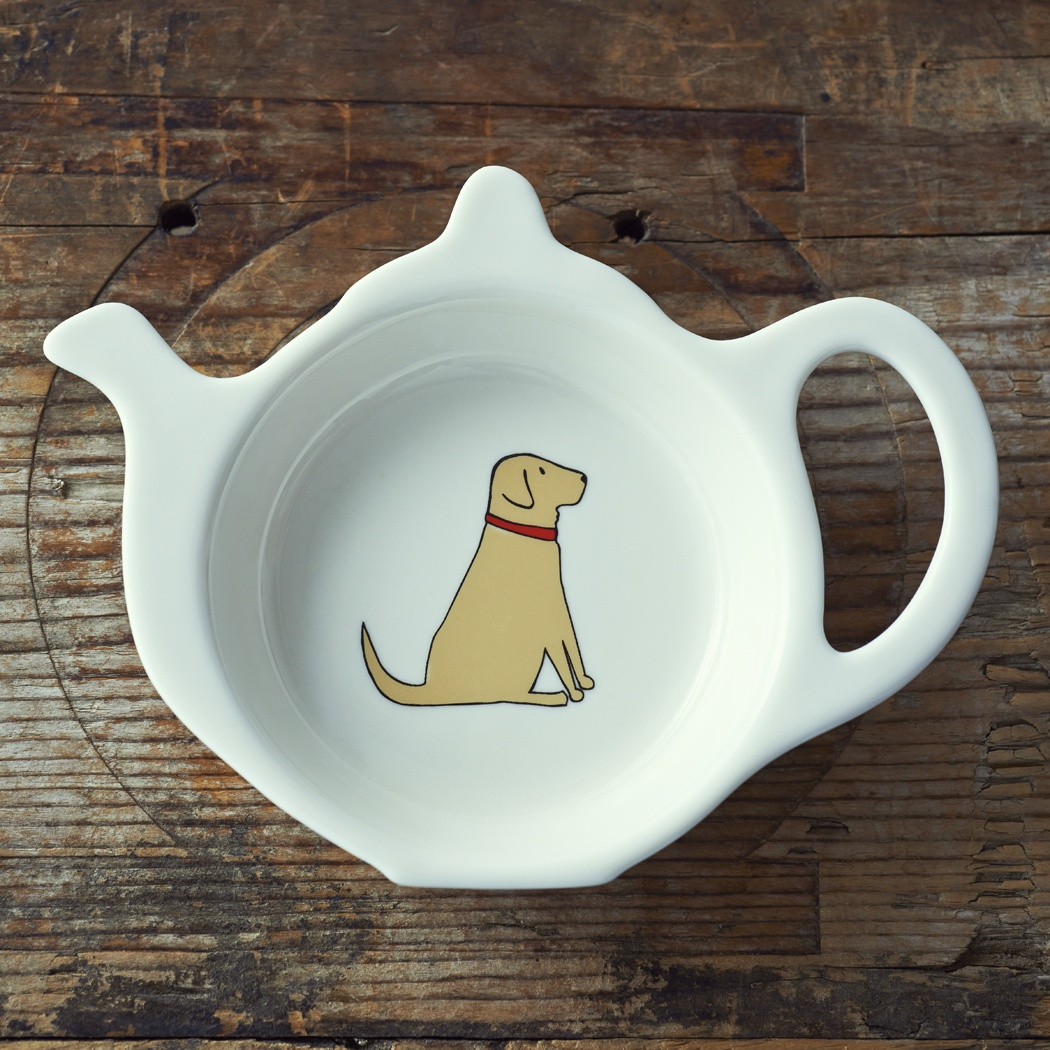 Yellow Labrador Teabag Dish , Mischievous Mutts > Teabag Dishes , Yellow Labrador