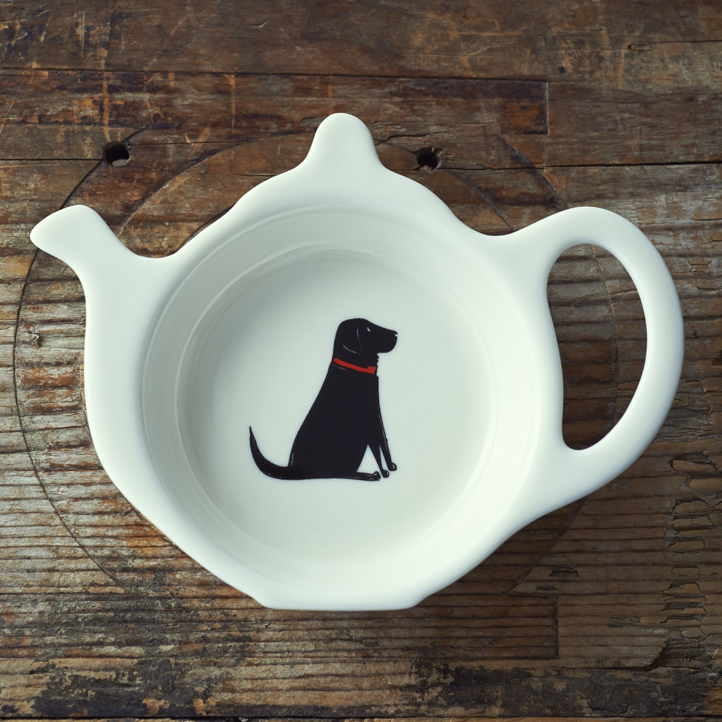 Black Labrador Teabag Dish , Mischievous Mutts > Teabag Dishes , Black Labrador