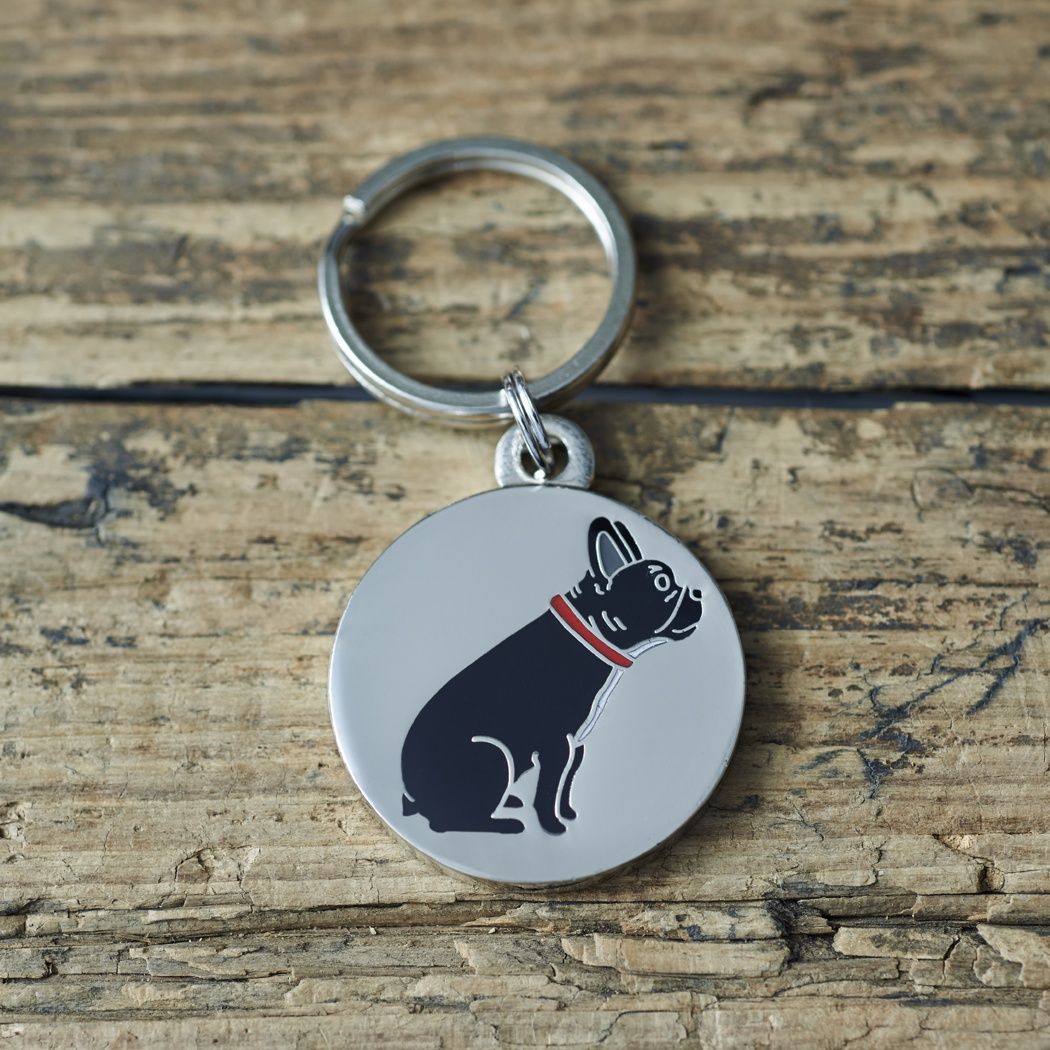 French Bulldog Cufflinks and Dog Tag Set