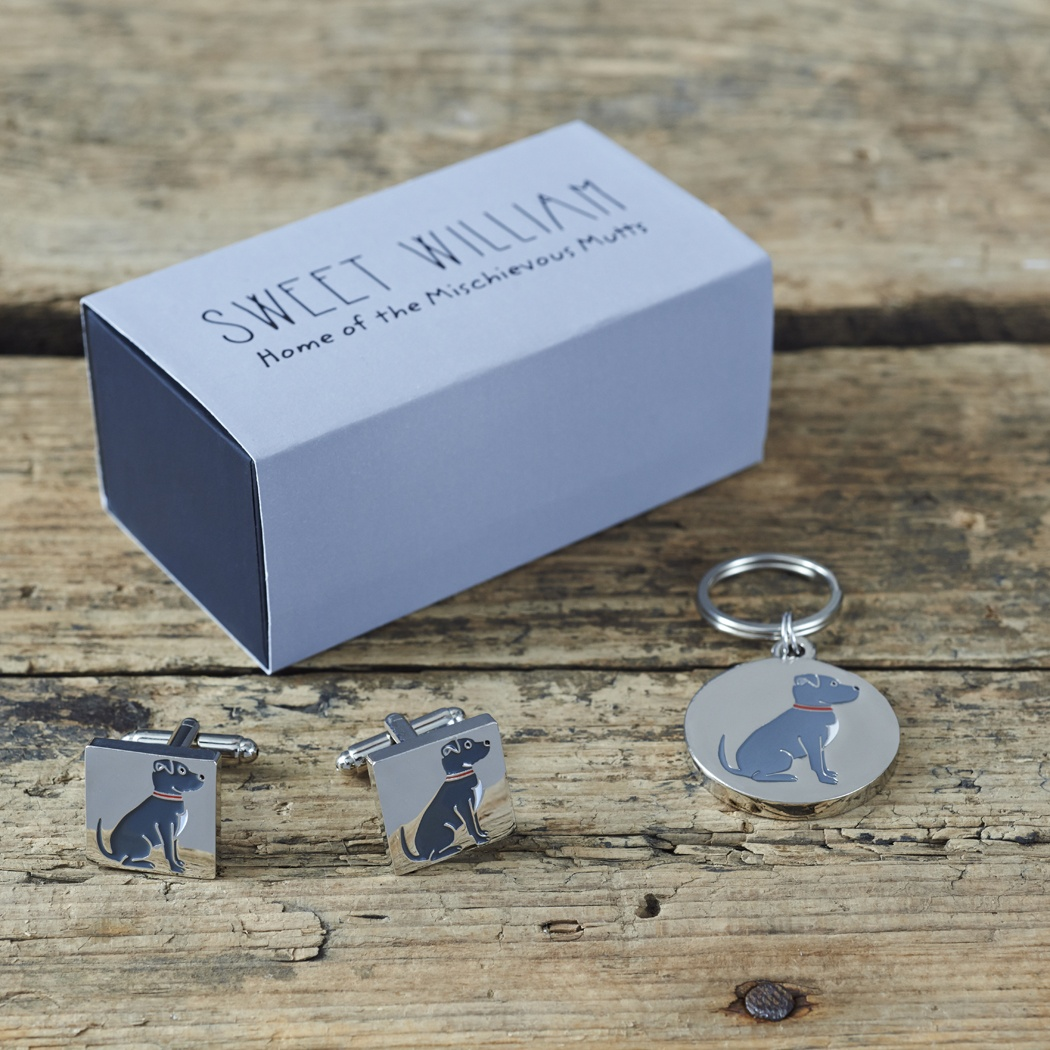 Staffie Cufflinks and Dog Tag Set , Mischievous Mutts > Daddy and Me , Staffie