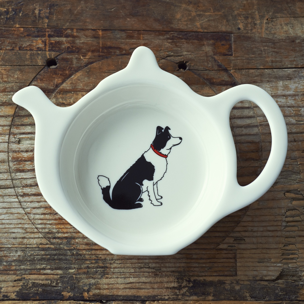 Border Collie Teabag Dish , Mischievous Mutts > Teabag Dishes , Border Collie