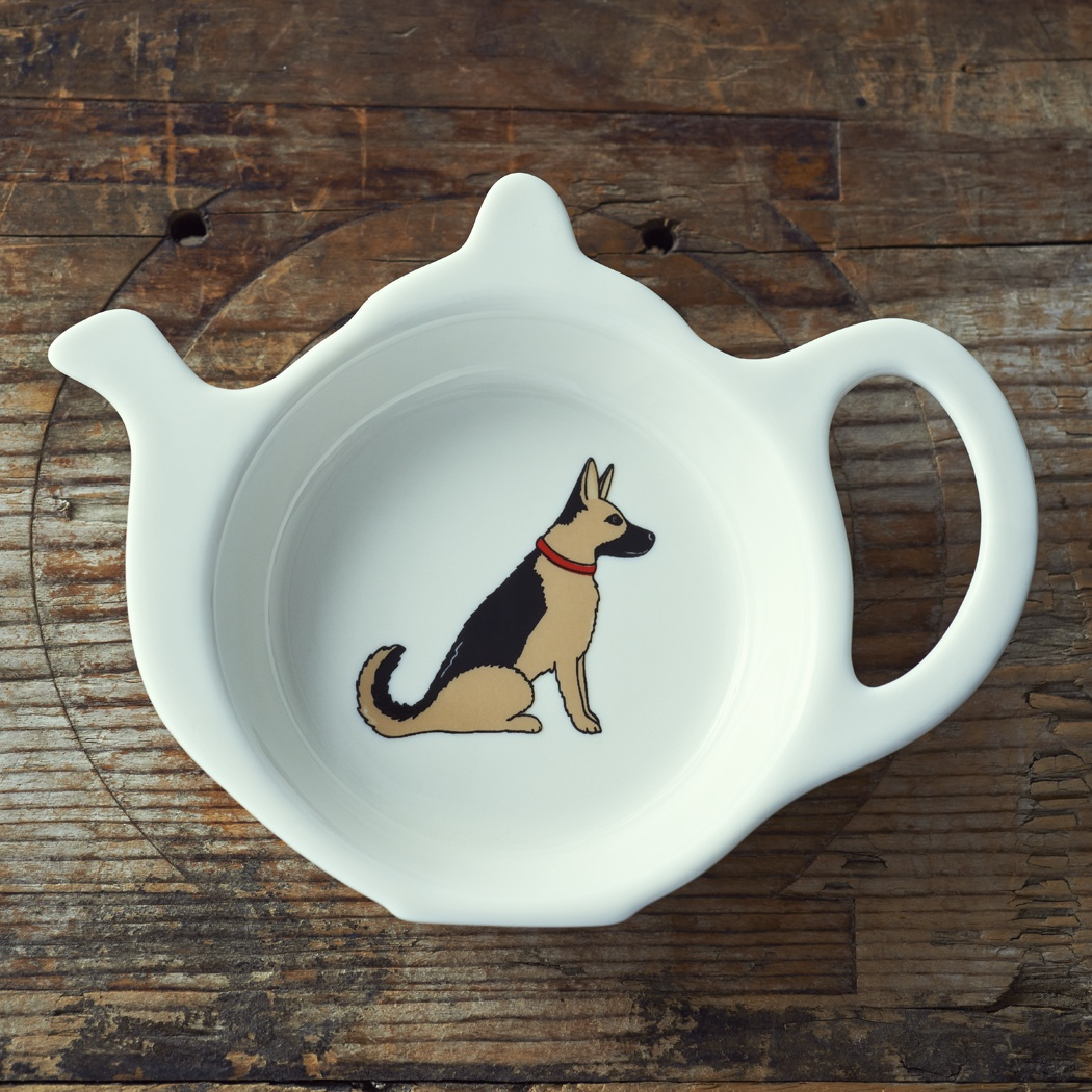German Shepherd Teabag Dish , Mischievous Mutts > Teabag Dishes , German Shepherd