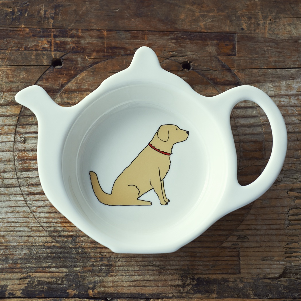 Golden Retriever Teabag Dish , Mischievous Mutts > Teabag Dishes , Golden Retriever