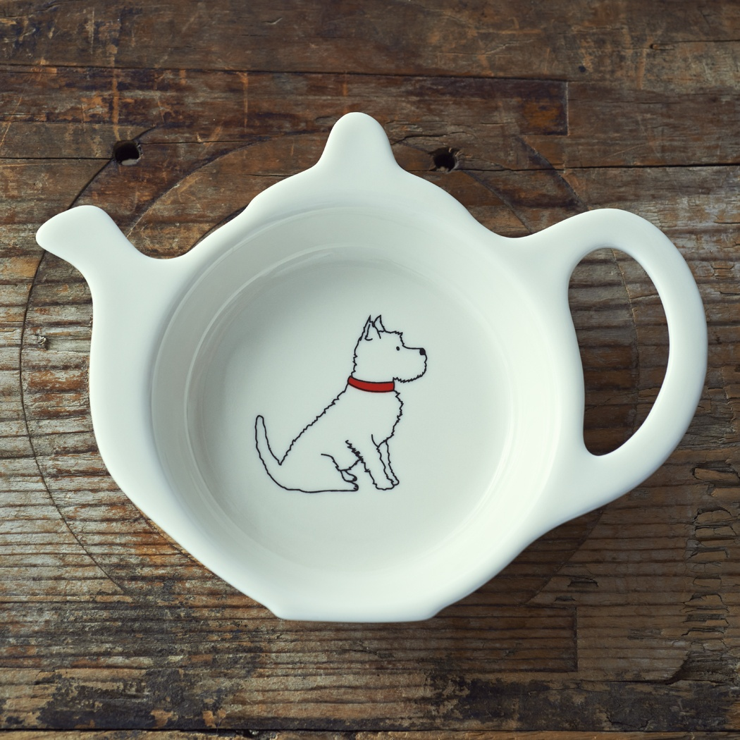 Westie Teabag Dish , Mischievous Mutts > Teabag Dishes , Westie