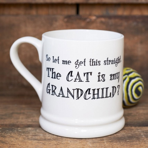 The cat is my grandchild mug , Mutts & Moggies > Mugs ,