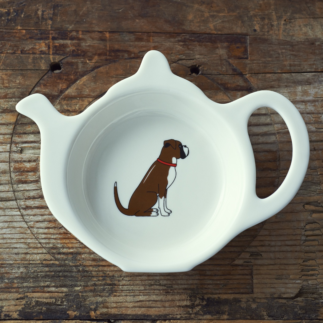 Boxer Teabag Dish , Mischievous Mutts > Teabag Dishes , Boxer