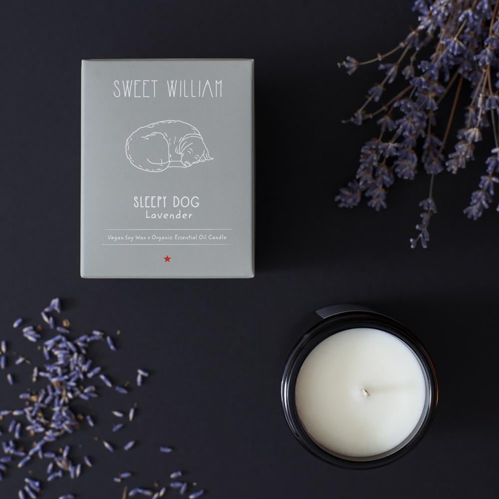 Sleepy dog organic candle , Candles ,