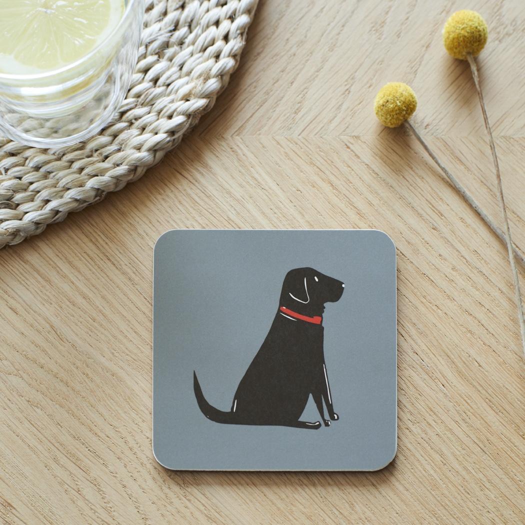 Black Labrador Coaster , Coasters , Black Labrador