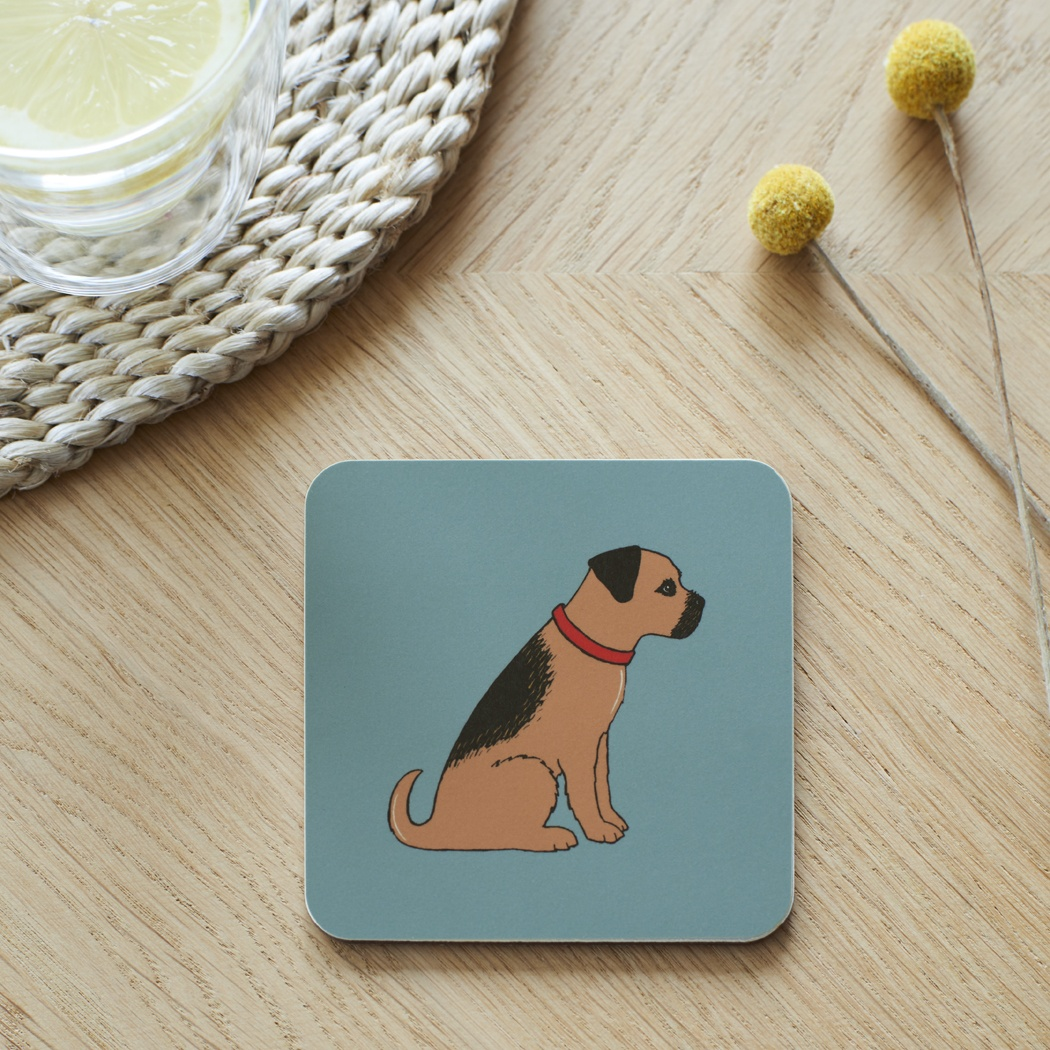 Border Terrier Coaster , Coasters , Border Terrier
