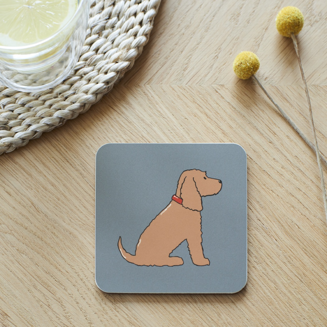 Golden Cocker Spaniel Coaster , Coasters , Cocker Spaniel