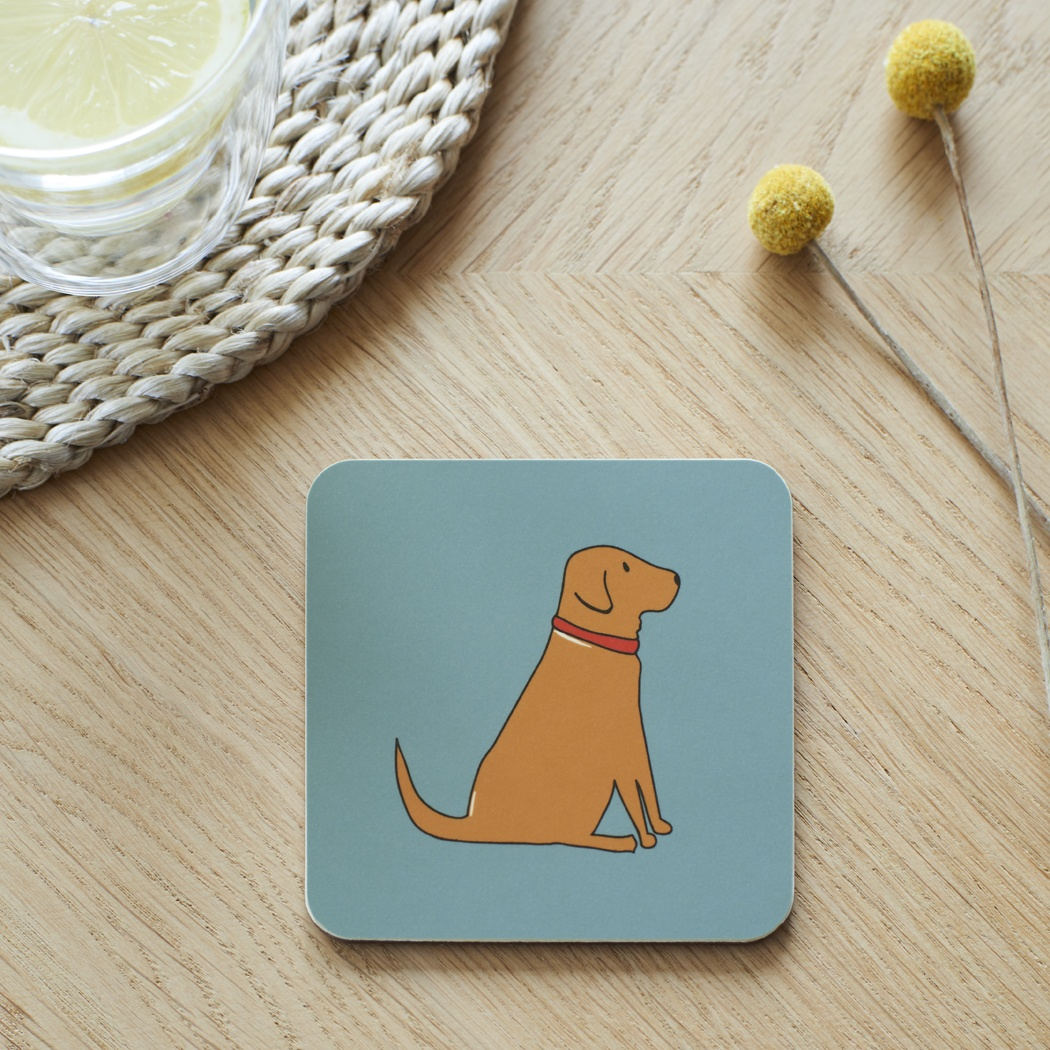 Fox Red Labrador Coaster , Coasters , Fox Red Labrador
