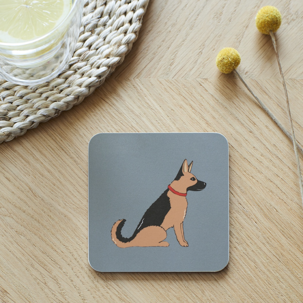 German Shepherd Coaster , Coasters , German Shepherd