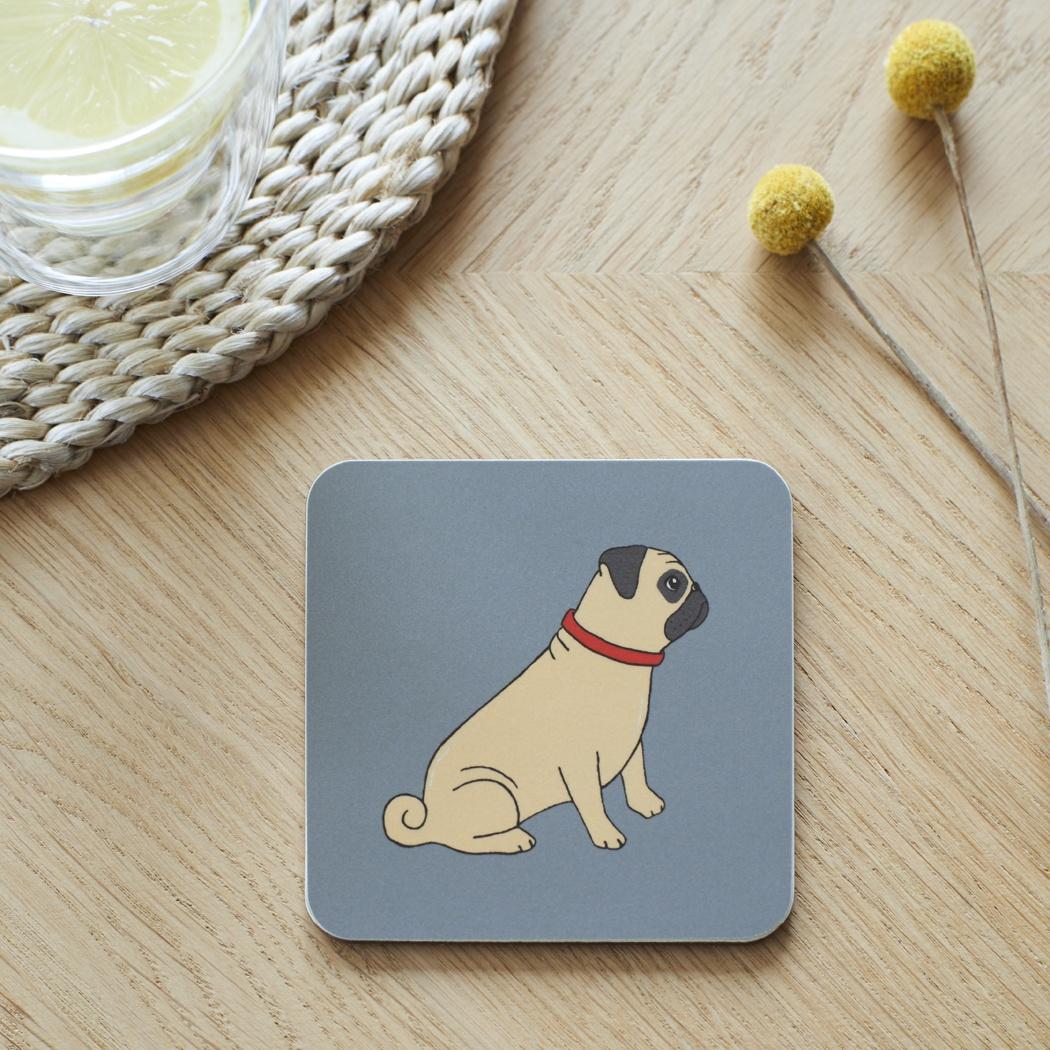 Pug Coaster , Coasters , Pug